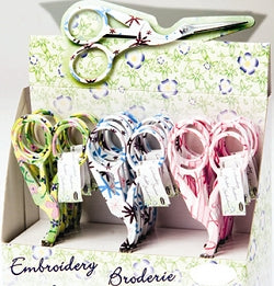 Embroidery Scissors, Stork Embroidery Scissors, Pastel Floral