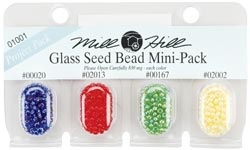Seed Beads, Mill Hill Beads, Multi Bead Pack, 2.5mm 01001
