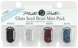 Seed Beads, Mill Hill Beads, Multi Bead Pack, 2.5mm 01002