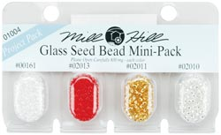 Seed Beads, Mill Hill Beads, Multi Bead Pack, 2.5mm 01004