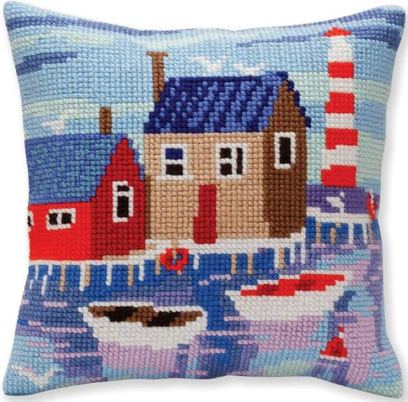 Serene Harbour CROSS Stitch Tapestry Kit, Collection D'Art CD5388