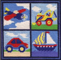 Nursery Tapestry Needlepoint Kit, Nursery Panel -Boy, Sew Inspiring
