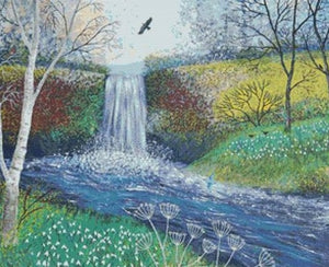 Snowdrop Falls Cross Stitch Kit, Jo Grundy