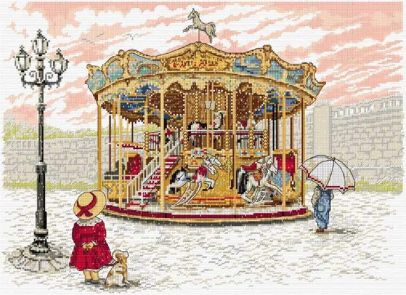 Snowy Carousel Cross Stitch Kit, All Our Yesterdays FW47