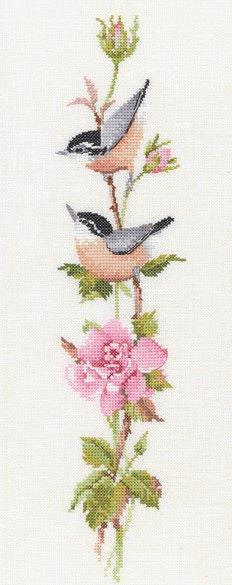 Sonatina Rose Cross Stitch Kit, Heritage Crafts, Valerie Pfeiffer