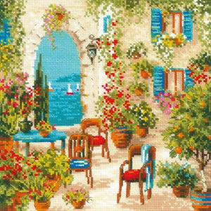 Southern Courtyard Cross Stitch Kit Riolis R1863