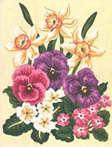 Spring Flowers Tapestry Kit, Grafitec K03-117