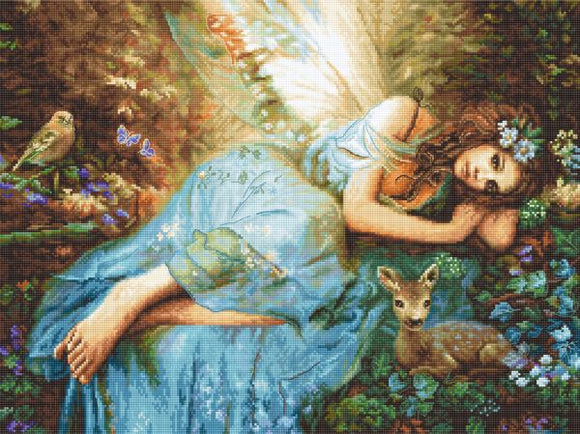 Spring Fairy Cross Stitch Kit (Luca-s) LetiStitch LETI960