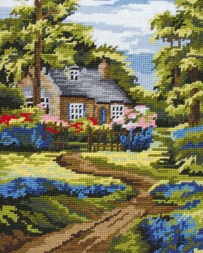 Spring Scene Landscape Tapestry Kit Needlepoint, Anchor MR841