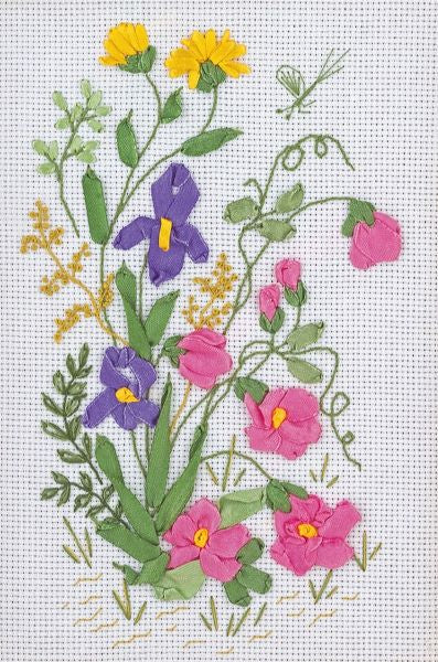 Spring Meadow Embroidery Kit, Ribbon Embroidery Panna C-0761