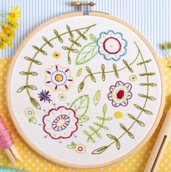 Spring Posy Embroidery Kit with Hoop, Hawthorn Handmade