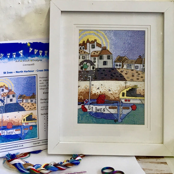 St. Ives, Cornwall Counted Cross Stitch Kit, Emma Louise Art Stitch