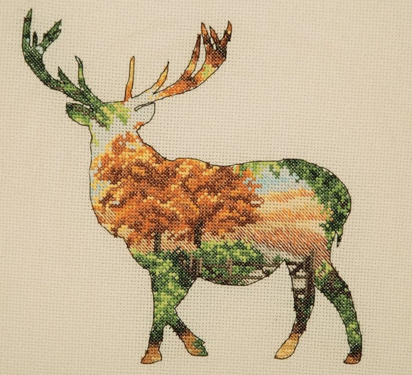 Stag Silhouette Cross Stitch Kit, Maia 5678000-5043