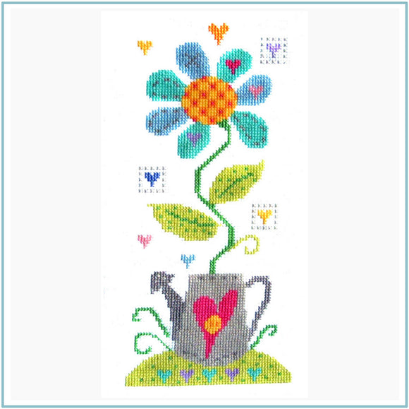 Cross Stitch Kit Crazy Daisy, Counted Cross Stitch, Stitching Shed