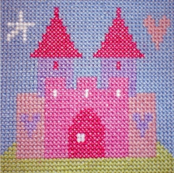 Cross Stitch Kit Fairy Castle, Starter Counted Cross Stitch, Stitching Shed