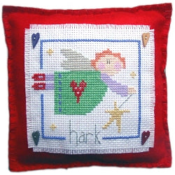 Cross Stitch Kit Hark, Angel Mini Cushion, Counted Cross Stitch, Stitching Shed