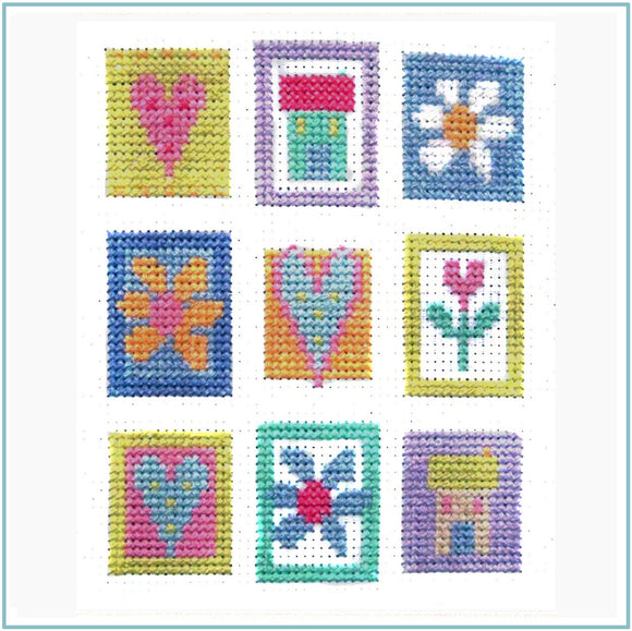 Patchwork Squares Cross Stitch Kit, The Stitching Shed