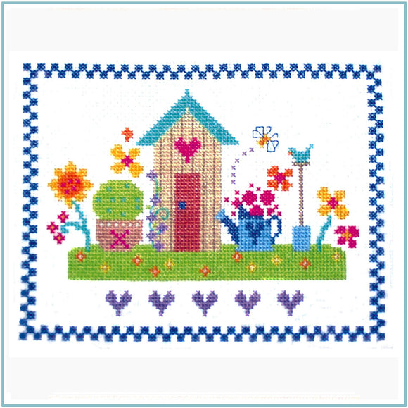 Cross Stitch Kit Summertime, Counted Cross Stitch, Stitching Shed