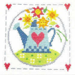 Cross Stitch Kit Watering Can, Counted Cross Stitch, Stitching Shed
