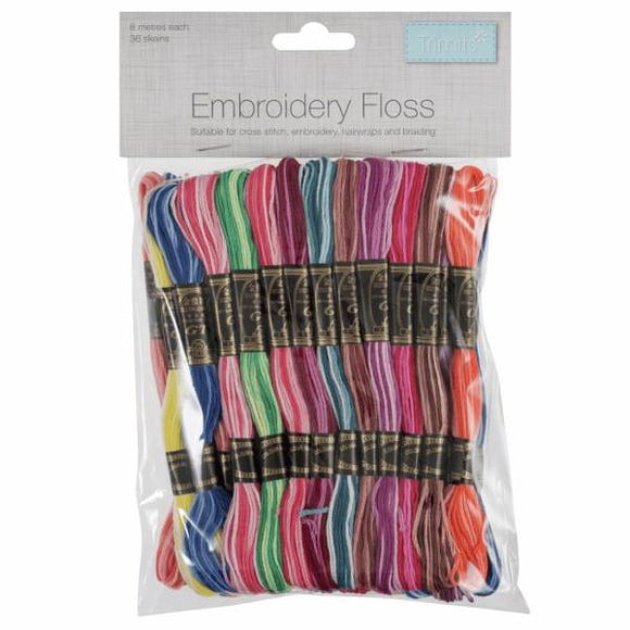 Stranded Cotton Embroidery Thread Pack of 36 -Trimits VARIEGATED Set