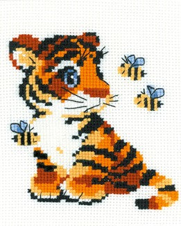 Stripies Tiger Cross Stitch Riolis HB-092