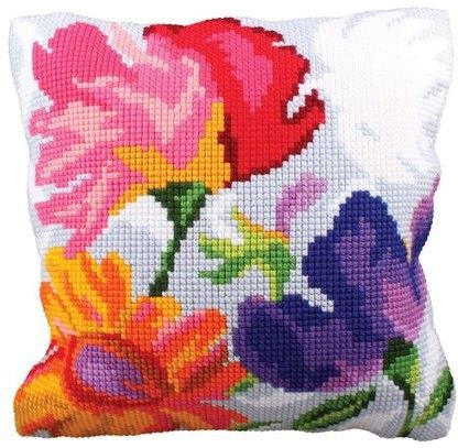 Stylish Flowers CROSS Stitch Tapestry Kit, Collection D'Art CD5227