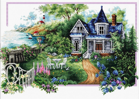 Summer Comes NO-COUNT Printed Cross Stitch Kit N740-068