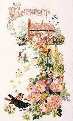Embroidery Kit Summer Cottage Garden, Design Perfection E130