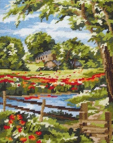Summer Scene Landscape Tapestry Kit Needlepoint, Anchor MR842