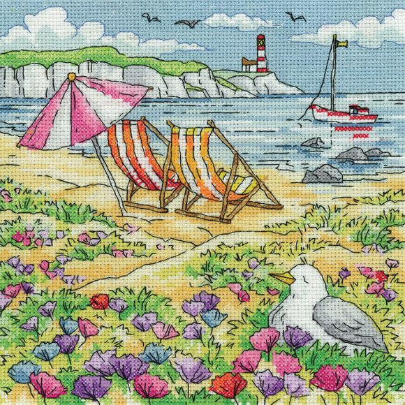 Summer Shore Cross Stitch Kit, Heritage Crafts -Karen Carter