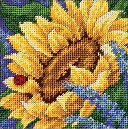 Sunflower and Ladybug Tapestry Needlepoint Kit, Dimensions D17066
