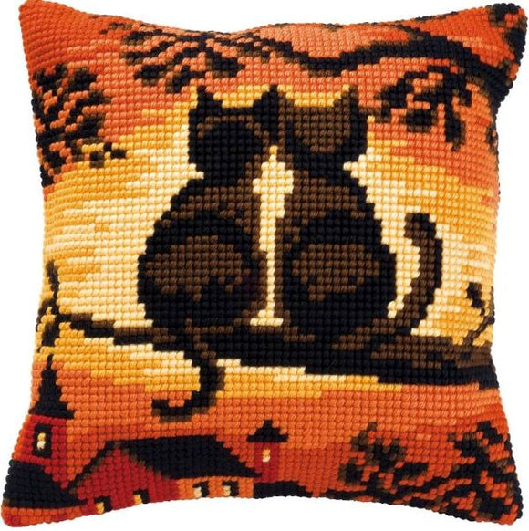 Sunset Cats CROSS Stitch Tapestry Kit, Vervaco pn-0008662