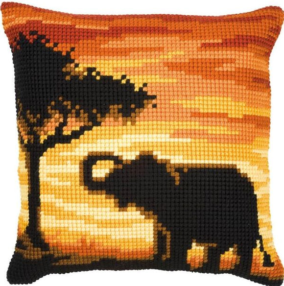 Sunset Elephant CROSS Stitch Tapestry Kit, Vervaco pn-0008643