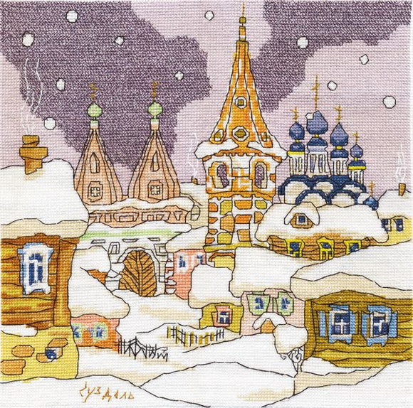 Suzdal Landscape Cross Stitch Kit, Panna AS-0606