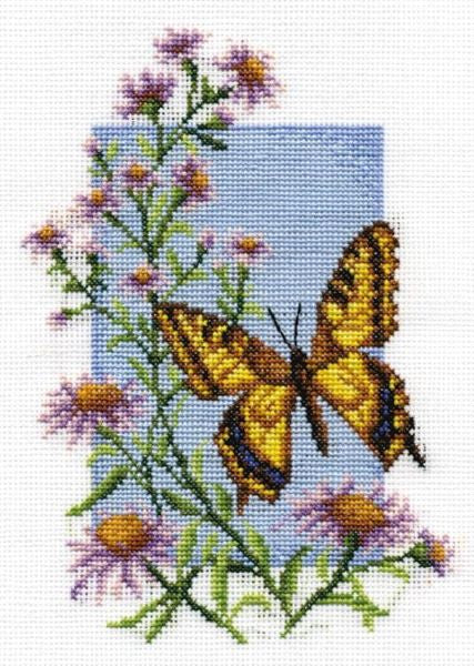 Swallowtail Butterfly Cross Stitch Kit, Panna B-0116