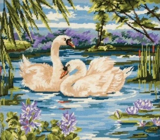 Swans Tapestry Kit Needlepoint, Anchor MR340