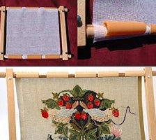 Tapestry Frame, Cross Stitch Embroidery Clip Roller Frame 12