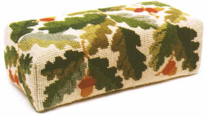 Tapestry Kit Acorns Doorstop Needlepoint, One Off Needlework