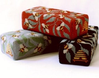 Tapestry Kit Bees Doorstop Needlepoint, One Off Needlework