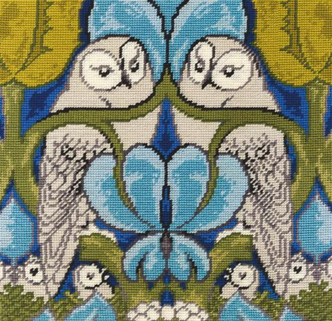 Voysey Owls Tapestry Needlepoint Kit C121K/77