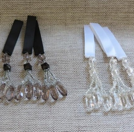Trimming Tassels, Beaded Trimming Tassels, Faceted Tassel SET of 4 (4 colours)