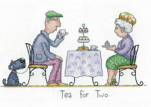 Tea for Two Cross Stitch Kit, Heritage Crafts GYTT1570