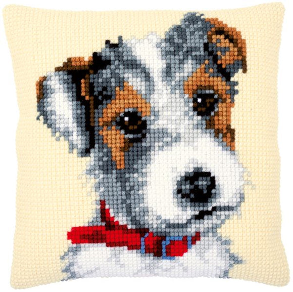 Terrier with Red Collar CROSS Stitch Tapestry Kit, Vervaco PN-0169611