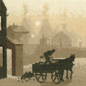 The Coalman Cross Stitch Kit, Silhouettes, Heritage Crafts