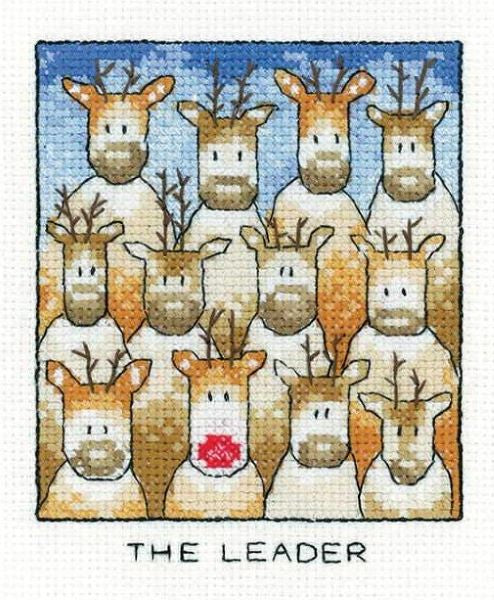 The Leader Cross Stitch Kit, Heritage Crafts -Peter Underhill
