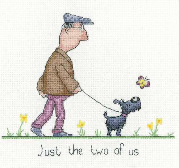 Just the Two of Us Cross Stitch Kit, Heritage Crafts GYTU1573