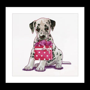 Cross Stitch Kit Dalmation Puppy, Counted Cross Stitch Kit Thea Gouverneur