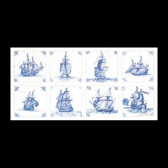 Cross Stitch Kit Antique Delft Tiles, Counted Cross Stitch Kit Thea Gouverneur