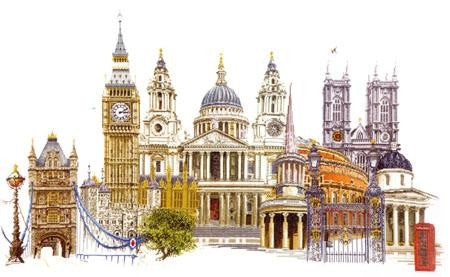 Cross Stitch Kit London, Counted Cross Stitch Kit Thea Gouverneur