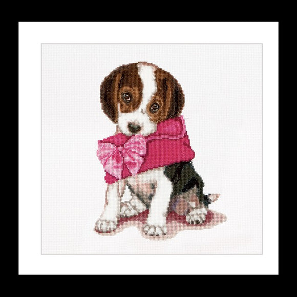 Puppy with Purse, Counted Cross Stitch Kit Thea Gouverneur
